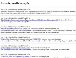 mails envoyés