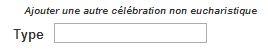 type de célébration
